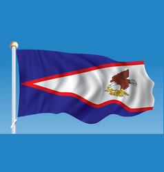 Flag of american samoa vector
