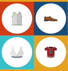 flat icon dress set of singlet brasserie t-shirt vector image