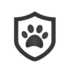 Footprint of an animal in a shield icon element vector