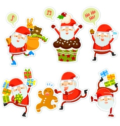 funny Santa cartoons vector image