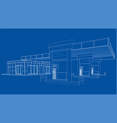 gas station rendering of 3d vector image
