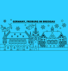 germany freiburg im breisgau winter holidays vector image