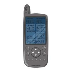 GPS Navigation for hiking vector