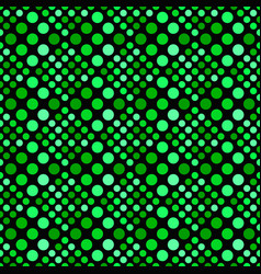 green abstract geometrical seamless dot pattern vector image