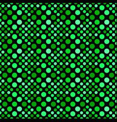 Green abstract geometrical seamless dot pattern vector