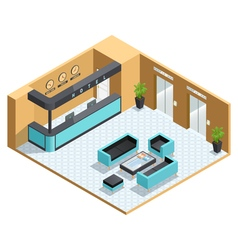Hall Interior Isometric vector image