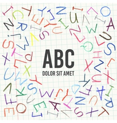 Hand drawn Children pencil ABC vector image