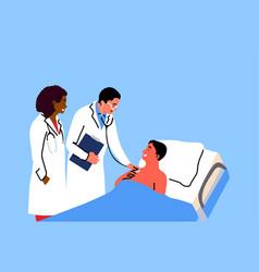 healthcare medicine examination concept vector image