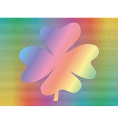 Hologram with four-leaf shamrock vector