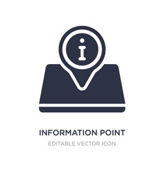 Information point icon on white background simple vector