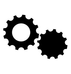 isolated gear pieces vector image