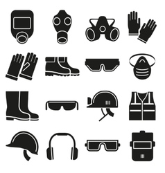 Job safety equipment icons set vector