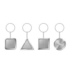 key ring with silver pendant holder blank vector image