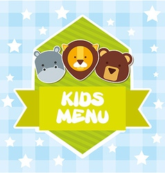 kids menu vector image