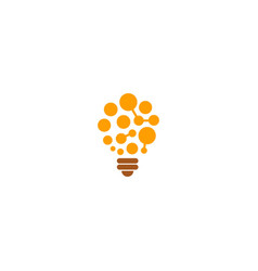 light bulb idea technology logo vector image