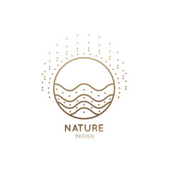Logo sunny waves vector