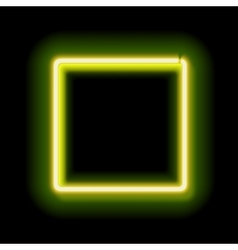 lowing electric square neon lamp vector image
