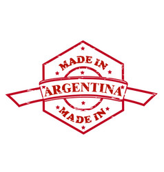 made in argentina red seal icon vector image