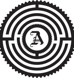 Maze letter vector