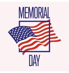 Memorial Day design vector