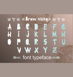 modern alphabet in paper cut style scandinavian vector image