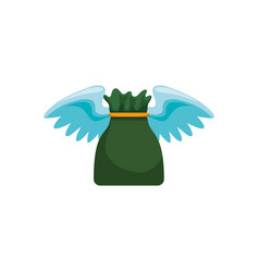 money bag with wings vector image
