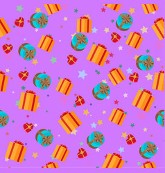 present boxes seamless pattern holiday collection vector image