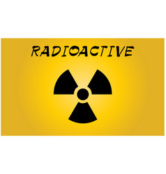 Radioactive contamination symbol vector