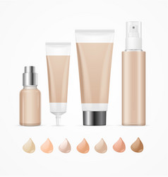 realistic empty template foundation cream package vector image