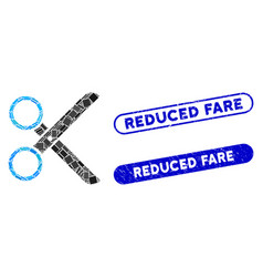Rectangle collage scissors with textured reduced vector