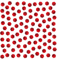Red dice on white background seamless pattern vector