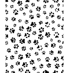 Seamless prints of paws vector