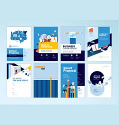 set brochure design templates education vector image