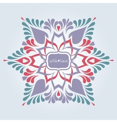 Soft ornate background vector image