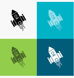 Space craft shuttle space rocket launch icon over vector