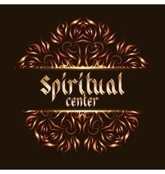Spiritual center logo mandala vector image