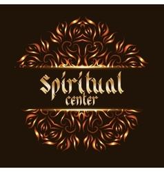 Spiritual center logo mandala vector