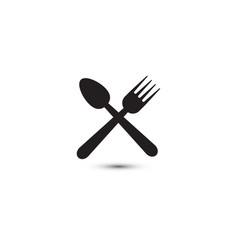 spoon and fork graphic design template vector image