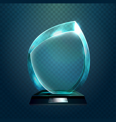 sport trophy or transparent achievement sign vector image