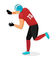 sportsman american football traditional game vector image