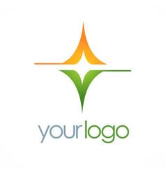 Square shine business logo vector