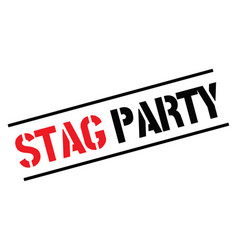 Stag party black stamp vector