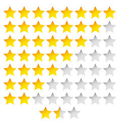 Star rating template with group of stars vector