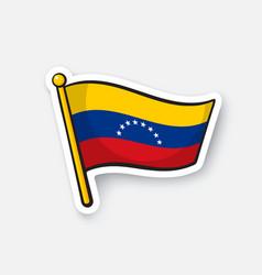 Sticker national flag venezuela vector