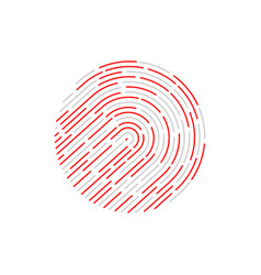 touch identification fingerprint vector image