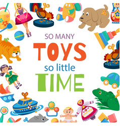 toys for baby to play toyshop vector image