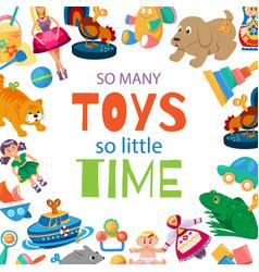 toys for bato play toyshop vector image