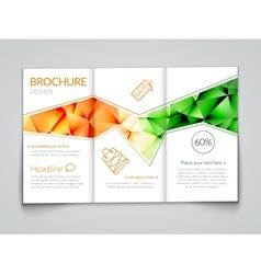Tri-fold modern brochure design template vector
