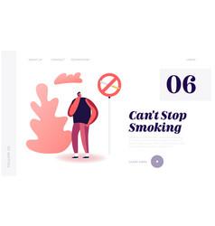 unhealthy bad habit tobacco addiction website vector image