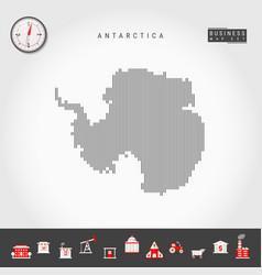 Vertical lines map antarctica striped vector